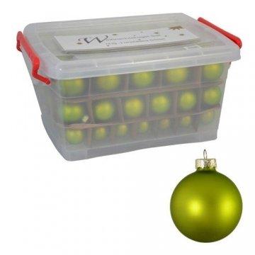 Glas-Weihnachtskugel-Set 72tlg + Box Weihnachtsbaumkugeln Christbaumschmuck Deko, Farben:Gold - 3