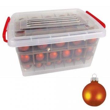 Glas-Weihnachtskugel-Set 72tlg + Box Weihnachtsbaumkugeln Christbaumschmuck Deko, Farben:Gold - 5