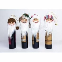 Gleisnut. 2019 Weihnachtsbaum Set-Top-Weinflasche Sets Herz verzierte Weihnachtstischdekorationen (Acht-Pakete) (Color : Eight-piece suit, Size : 30 * 13cm) - 1