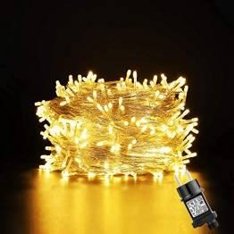 GlobaLink 50m LED Lichterkette Außen, 250Leds Weihnachtsbeleuchtung strombetrieben Wasserdicht IP44 mit 8 Modi & Memory-Funktion für innen und außen Weihnachten Hochzeit Party Garten Deko - 1