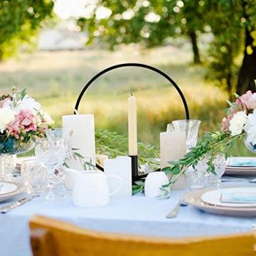 GoMaihe Retro Kerzenhalter 2 Set in Unterschiedlicher Größe, 29/23cm Antik Kerzenständer Eisen Deko Rund Geformt Kerzenleuchter, Kerzen Ständer Tischdeko Hochzeit, Schwarz.MEHRWEG - 5