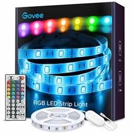 Govee LED Strip 5m, RGB LED Streifen, Farbwechsel LED Band mit IR Fernbedienung, für die Beleuchtung von Haus, Party, Küche - 1