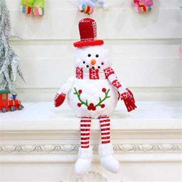 Groust Weihnachtspuppe, Schaum Schneemann Figuren Ornament Weihnachten Wichtel Figuren Deko Geschenke Weihnachtspuppe Schaufenster Schmuck Deko - 2