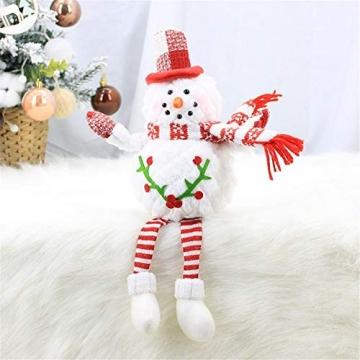 Groust Weihnachtspuppe, Schaum Schneemann Figuren Ornament Weihnachten Wichtel Figuren Deko Geschenke Weihnachtspuppe Schaufenster Schmuck Deko - 3