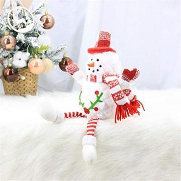 Groust Weihnachtspuppe, Schaum Schneemann Figuren Ornament Weihnachten Wichtel Figuren Deko Geschenke Weihnachtspuppe Schaufenster Schmuck Deko - 4