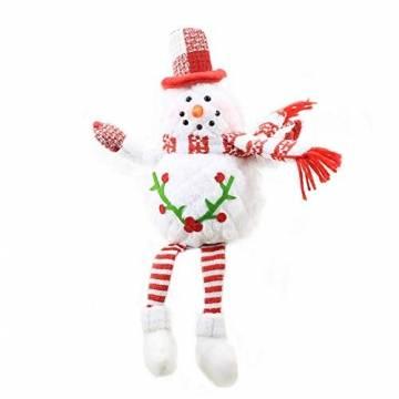 Groust Weihnachtspuppe, Schaum Schneemann Figuren Ornament Weihnachten Wichtel Figuren Deko Geschenke Weihnachtspuppe Schaufenster Schmuck Deko - 1