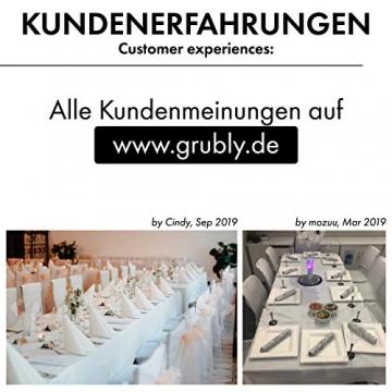 GRUBly Servietten Gold | Stoffähnlich [50 Stück] | Hochwertige goldene Tischdekoration für Weihnachten, Hochzeit, Geburtstag, Feiern | 40x40cm | AIRLAID QUALITÄT - 6