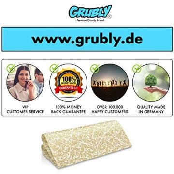 GRUBly Servietten Gold | Stoffähnlich [50 Stück] | Hochwertige goldene Tischdekoration für Weihnachten, Hochzeit, Geburtstag, Feiern | 40x40cm | AIRLAID QUALITÄT - 7