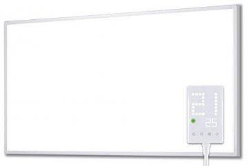 Heidenfeld Infrarotheizung HF-HP100 1000 Watt Weiß - inkl. Thermostat - 10 Jahre Garantie - Deutsche Qualitätsmarke - TÜV GS - 1000 Watt - 15-25 m² (HF-HP100 1000 Watt) - 1