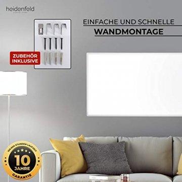 Heidenfeld Infrarotheizung HF-HP100 1000 Watt Weiß - inkl. Thermostat - 10 Jahre Garantie - Deutsche Qualitätsmarke - TÜV GS - 1000 Watt - 15-25 m² (HF-HP100 1000 Watt) - 7
