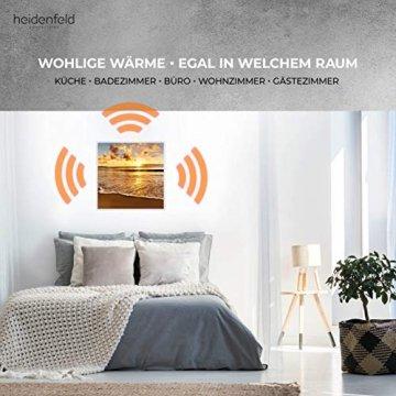Heidenfeld Infrarotheizung HF-HP105 mit Fotomotiven - 10 Jahre Garantie - Deutsche Qualitätsmarke - TÜV GS - 300/400 / 500/600 / 800/1000 Watt - 3-25 m² (1000 Watt, Strand) - 5