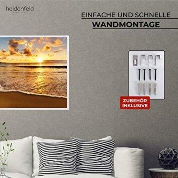 Heidenfeld Infrarotheizung HF-HP105 mit Fotomotiven - 10 Jahre Garantie - Deutsche Qualitätsmarke - TÜV GS - 300/400 / 500/600 / 800/1000 Watt - 3-25 m² (1000 Watt, Strand) - 7