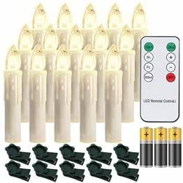 Hengda 30er LED Weihnachtskerzen mit Fernbedienung Timer Warmweiß Dimmbar Kerzen mit Batterien Weihnachtskerzen Christbaumkerzen Kabellos - 1