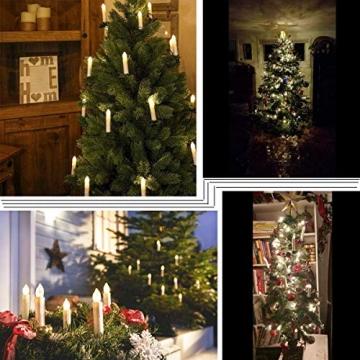 Hengda 40 Stück LED Weihnachtskerzen mit Fernbedienung RGB Kerzen Lichterkette Christbaumkerzen Kabellos LED Kerzenlichter Weihnachts - 3