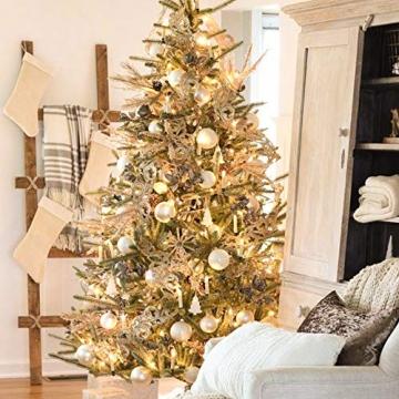 Hengda 40er LED Weihnachtskerzen Kabellos Warmweiß, mit Fernbedienung Timer und Batterien, Christbaumkerzen Kabellos, LED Kerzen Dimmbar, IP44, für Weihnachtsbaum, Weihnachtsdeko - 2