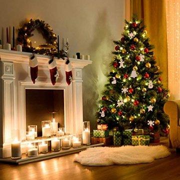 Herefun Holz Christbaumschmuck, 72 Stück Weihnachtsanhänger Holz, Weihnachts Holz-Anhänger Weihnachtsanhänger Deko, Weihnachtlicher Baumschmuck, Weihnachtsbaum Deko, Weihnachtsdeko zum Aufhängen - 2