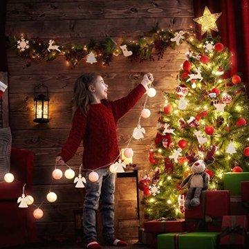 Herefun Holz Christbaumschmuck, 72 Stück Weihnachtsanhänger Holz, Weihnachts Holz-Anhänger Weihnachtsanhänger Deko, Weihnachtlicher Baumschmuck, Weihnachtsbaum Deko, Weihnachtsdeko zum Aufhängen - 5
