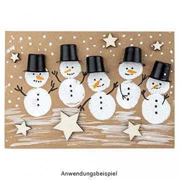 Holzsterne zum Basteln und Dekorieren | 5 verschiedene Größen | Sterne aus Holz | 1 cm bis 3 cm | naturfarben | 250 Stück | Ideal als Weihnachts-Deko, Tischdeko, Streudeko - 8