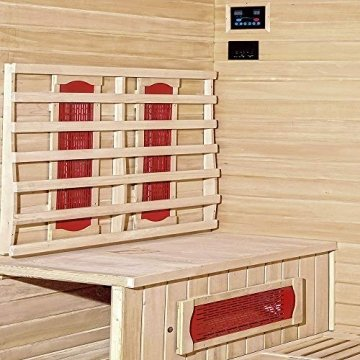 Home Deluxe – Infrarotkabine Bali XL – Keramikstrahler, Holz: Hemlocktanne, Maße: 175 x 120 x 190 cm   Infrarotsauna für 4 Personen, Sauna, Infrarot, Kabine - 4