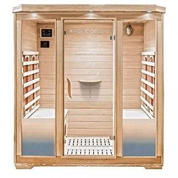 Home Deluxe – Infrarotkabine Bali XL – Keramikstrahler, Holz: Hemlocktanne, Maße: 175 x 120 x 190 cm   Infrarotsauna für 4 Personen, Sauna, Infrarot, Kabine - 1