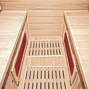 Home Deluxe – Infrarotkabine Bali XL – Keramikstrahler, Holz: Hemlocktanne, Maße: 175 x 120 x 190 cm   Infrarotsauna für 4 Personen, Sauna, Infrarot, Kabine - 5