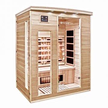 Home Deluxe – Infrarotkabine Gobi L – Vollspektrumstrahler, Holz: Hemlocktanne, Maße: 153 x 110 x 190 cm | Infrarotsauna für 2-3 Personen, Sauna, Infrarot, Kabine - 2