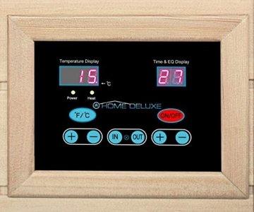 Home Deluxe – Infrarotkabine Gobi L – Vollspektrumstrahler, Holz: Hemlocktanne, Maße: 153 x 110 x 190 cm | Infrarotsauna für 2-3 Personen, Sauna, Infrarot, Kabine - 3