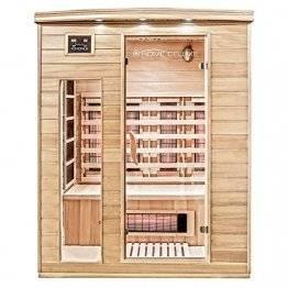 Home Deluxe – Infrarotkabine Gobi L – Vollspektrumstrahler, Holz: Hemlocktanne, Maße: 153 x 110 x 190 cm   Infrarotsauna für 2-3 Personen, Sauna, Infrarot, Kabine - 1