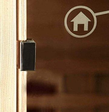 Home Deluxe – Infrarotkabine Gobi L – Vollspektrumstrahler, Holz: Hemlocktanne, Maße: 153 x 110 x 190 cm | Infrarotsauna für 2-3 Personen, Sauna, Infrarot, Kabine - 4