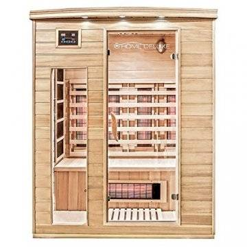 Home Deluxe – Infrarotkabine Gobi L – Vollspektrumstrahler, Holz: Hemlocktanne, Maße: 153 x 110 x 190 cm | Infrarotsauna für 2-3 Personen, Sauna, Infrarot, Kabine - 1