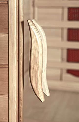 Home Deluxe – Infrarotkabine Gobi L – Vollspektrumstrahler, Holz: Hemlocktanne, Maße: 153 x 110 x 190 cm | Infrarotsauna für 2-3 Personen, Sauna, Infrarot, Kabine - 6