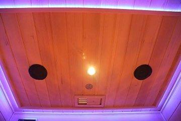 Home Deluxe – Infrarotkabine Redsun L Deluxe - Vollspektrumstrahler und Karbon-Flächenstrahler, Holz: Hemlocktanne, Maße: 153 x 110 x 190 cm | Infrarotsauna für 2-3 Personen, Infrarot, Kabine - 6