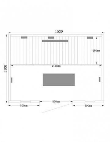 Home Deluxe – Infrarotkabine Redsun L Deluxe - Vollspektrumstrahler und Karbon-Flächenstrahler, Holz: Hemlocktanne, Maße: 153 x 110 x 190 cm | Infrarotsauna für 2-3 Personen, Infrarot, Kabine - 7