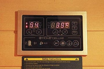 Home Deluxe – Infrarotkabine Redsun L Deluxe - Vollspektrumstrahler und Karbon-Flächenstrahler, Holz: Hemlocktanne, Maße: 153 x 110 x 190 cm | Infrarotsauna für 2-3 Personen, Infrarot, Kabine - 8