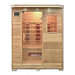 Home Deluxe – Infrarotkabine Redsun L – Keramikstrahler, Holz: Hemlocktanne, Maße: 153 x 110 x 190 cm   Infrarotsauna für 2-3 Personen, Sauna, Infrarot, Kabine - 1