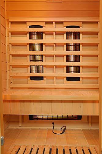 Home Deluxe – Infrarotkabine – Redsun M Deluxe – Vollspektrumstrahler und Karbon-Flächenstrahler – Holz: Hemlocktanne - Maße: 120 x 105 x 190 cm – inkl. vielen Extras und komplettem Zubehör - 6