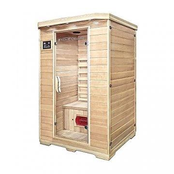Home Deluxe – Infrarotkabine Redsun M - Keramikstrahler, Hemlocktanne, Maße: 120 x 105 x 190 cm | Infrarotsauna für 2 Personen, Sauna, Infrarot, Kabine - 3