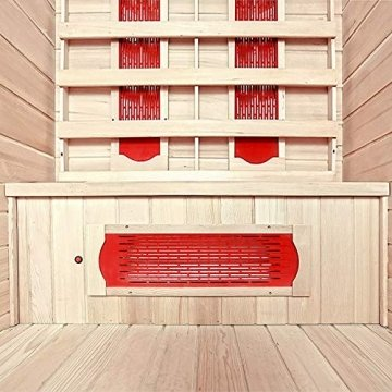 Home Deluxe – Infrarotkabine Redsun M - Keramikstrahler, Hemlocktanne, Maße: 120 x 105 x 190 cm | Infrarotsauna für 2 Personen, Sauna, Infrarot, Kabine - 5
