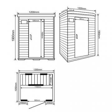 Home Deluxe – Infrarotkabine Redsun M - Keramikstrahler, Hemlocktanne, Maße: 120 x 105 x 190 cm | Infrarotsauna für 2 Personen, Sauna, Infrarot, Kabine - 6