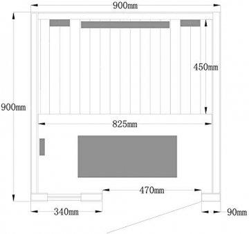 Home Deluxe – Infrarotkabine Redsun S Deluxe – Vollspektrumstrahler und Karbon-Flächenstrahler, Holz: Hemlocktanne, Maße: 90 x 90 x 190 cm | Infrarotsauna für 1 Person, Infrarot, Kabine - 5