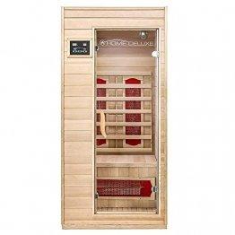 Home Deluxe – Infrarotkabine Redsun S – Keramikstrahler, Holz: Hemlocktanne, Maße: 90 x 90 x 190 cm | Infrarotsauna für 1-2 Personen, Sauna, Infrarot, Kabine - 1