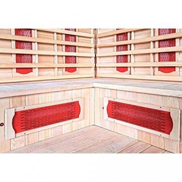 Home Deluxe – Infrarotkabine Redsun XXL – Keramikstrahler, Holz: Hemlocktanne, Maße: 150 x 150 x 190 cm   Infrarotsauna für 3-4 Personen, Sauna, Infrarot, Kabine - 3