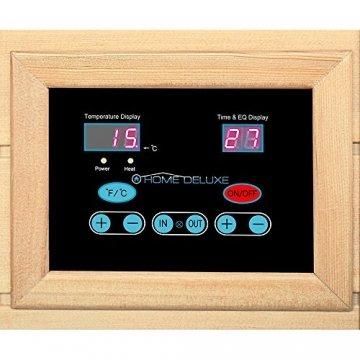 Home Deluxe – Infrarotkabine Redsun XXL – Keramikstrahler, Holz: Hemlocktanne, Maße: 150 x 150 x 190 cm   Infrarotsauna für 3-4 Personen, Sauna, Infrarot, Kabine - 4