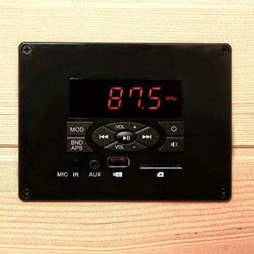 Home Deluxe – Infrarotkabine Redsun XXL – Keramikstrahler, Holz: Hemlocktanne, Maße: 150 x 150 x 190 cm   Infrarotsauna für 3-4 Personen, Sauna, Infrarot, Kabine - 5