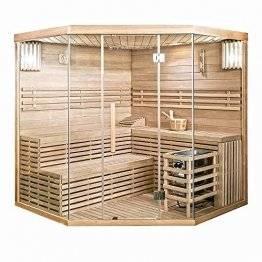 Home Deluxe - Traditionelle Sauna - Skyline XL Big - Holz: Hemlocktanne - Maße: 200 x 200 x 210 cm - inkl. komplettem Zubehör   Dampfsauna Aufgusssauna Finnische Sauna - 1
