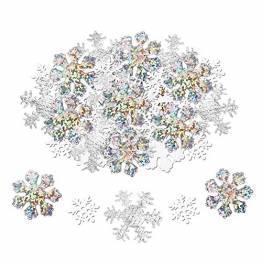 HOWAF 300 Stück Schneeflocken Konfetti, Weihnachten Winter deko Schneeflocke Filz Tabelle Konfetti Tischdeko, Weihnachtsschmuck , Hochzeit, Geburtstag, neues Jahr, Weihnachts Dekorationen - 1