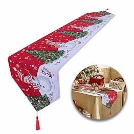 Huahao Weihnachtstischläufer 1 Stück Festliche Weihnachtstischdekoration Tischdecke Weihnachtstischdekoration, Weihnachtstischdekoration (178 x 34 cm) - 1