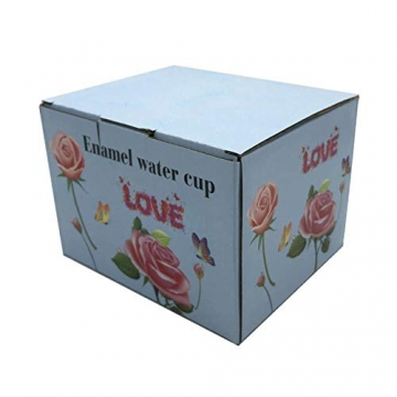 HUISHENG Emaille Teetasse,Schmetterling Blume Becher,Glas Tassen mit Löffel,Personalisierte Geschenke für Frauen Mama Oma Mädchen Mutter Freundin,Weihnachtsgeschenke Muttertag Geburtstag (Gelb) - 7