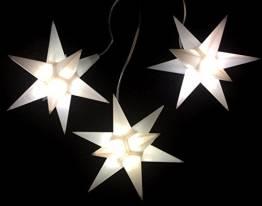 Importeur Pagoda GmbH Leuchtsterne StarLED Lichterkette 3er Set Weiss - 1