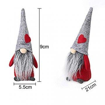 INTVN Santa Dolls Süße Weihnachten,Puppen Figur Schneemann aus Weihnachtsfigur Dwarf,Urlaub Dekoration Geschenke,Plüsch Weihnachtsdeko,Plüsch Schwedische Wichtel - 2